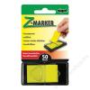 SIGEL Jelölőcímke, műanyag, Z, 50 lap, 25x45 mm, SIGEL, sárga (SIHN481)