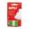 APLI Jelölőcímke, műanyag, 50 lap, 25x45 mm, APLI, zöld (LCA12612)