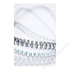 FELLOWES Spirál, fém, 8 mm, 36-50 lap, FELLOWES, fehér (IFW53258)