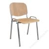 Tárgyalószék, fa ülőlappal, krómozott lábbal, 1120 LC (BBSZV170)
