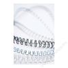FELLOWES Spirál, fém, 12 mm, 81-100 lap, FELLOWES, fehér (IFW53270)