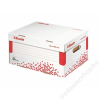 ESSELTE Archiváló konténer, S méret, újrahasznosított karton, ESSELTE Speedbox, fehér (E623911)