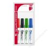 ICO Tábla- és flipchart marker készlet, 1-3 mm, kúpos, ICO Plan, 4 különböző szín (TICPLV4)