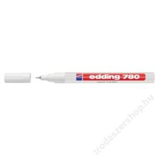 EDDING Lakkmarker, 0,8 mm, EDDING 780, fehér (TED780F) filctoll, marker