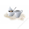 ROTBERG Cukortartó, porcelán, 15 cl, ROTBERG Basic, fehér (KHPU071)