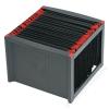 HELIT Függőmappa tároló, műanyag, HELIT, fekete-piros (INH6110092)