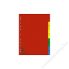 DONAU Regiszter, műanyag, A4, 1-5, DONAU, színes (D77080)