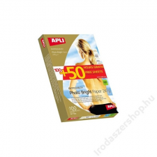 APLI Fotópapír, tintasugaras, 10x15 cm, 240 g, fényes, APLI Photo Bright (LEAA11504) fotópapír