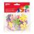 APLI Moosgumi, öntapadó, glitteres, virágok, APLI Eva Sheets, vegyes színek (LCA13078)