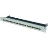 Conrad Beépíthető ISDN patch panel 25db-os CAT6a Digitus 19 RAL 7035 1HE