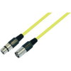 Conrad Mikrofonkábel 10 m, XLR dugó/hüvely, sárga, Paccs