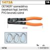 Beta 1473A OETIKER szemesbilincs összehúzó fogó, barnított, PVC-bevonatú szárral