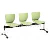 LIN-Mono 3P műanyag várótermi szék (3 üléses)