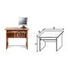 Malibu 27 számítógépasztal (85 cm)