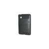 HTC HC C590 Műanyag telefonvédő (bőrmintás) FEKETE [HTC Flyer (P510e)]