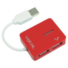 LogiLink 4 portos USB 2.0 Hub, piros, LogiLink UA0140