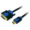 LogiLink HDMI/DVI kábel, fekete, 5 m, LogiLink CHB3105