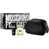 Moschino Forever férfi parfüm Set (Ajándék szett) (eau de toilette) edt 100ml + Tusfürdő 100ml + Fekete luxus kozmetikai táska