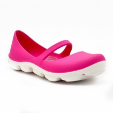 CROCS DUET SPORT MARY JANE FUCHSIA/WHITE