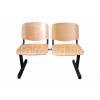 Teirodád.hu LIN-ISO Wood 3P, fa várótermi pad (3 üléses)