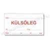 Gyógyszertári címke 38×70mm KÜLSŐLEG piros szignatúra címke