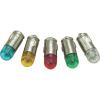 Conrad LED izzó, BA7s, 6 V, piros, T7 BA7s Single Dome Lamp, Barthelme 70112850