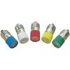 Conrad LED izzó, E10, 24-28 V, zöld, T10 E10 Multi 4Chips Flat Lamp, Barthelme 70113324