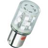 Conrad LED jelzőlámpa 15 db szuperfényes LED-del, BA15d, 230 V, piros, Barthelme 52192411