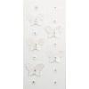 Rössler Papier GmbH and Co. KG Rössler  Matrica  kézzelkészített  fehér pillangó  köves virágokkal