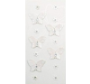 Rössler Papier GmbH and Co. KG Rössler  Matrica  kézzelkészített  fehér pillangó  köves virágokkal matrica