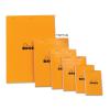 Clairefontaine Rhodia narancs jegyzetblokk  80lap  kockás 11x17cm