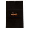 Clairefontaine Rhodia fekete jegyzetblokk  kockás 80lap  21x31 8cm