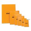 Clairefontaine Rhodia narancs jegyzetblokk  80lap  kockás  5 2x7 5cm