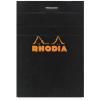 Clairefontaine Rhodia fekete jegyzetblokk  vonalas  80lap  7 4x10 5cm