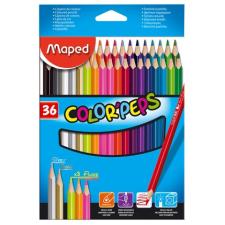 MAPED Color`Peps színes ceruza készlet, háromszögletű, 36 különböző szín színes ceruza