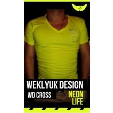 Neon yellow WD cross póló
