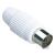 Sencor Koaxiális csatlakozó - aljzat, egyenes, fehér műanyag-nikkel
