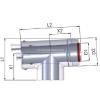 Tricox Alu/Alu ellenőrző T-idom mérőponttal 80/125mm
