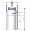 Tricox Alu/Alu cső 80/125mm, hossz 1000mm