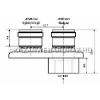 Tricox PPs/Alu osztó adapter 110/150 - 2x110