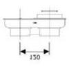 Ariston Közösítő idom, alu, 80/80 mm -> ?60/100 mm