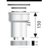 Ariston Függőleges indítóidom, alu, ?80/125 mm