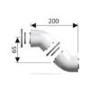 Ariston 45°-os könyökidom, alu, ?80/125 mm, (2 db/csomag)