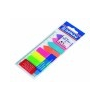 DONAU Jelölõcímke, mûanyag, címke és nyíl forma, 8x25 lap, 12x45/42 mm, DONAU, neon szín