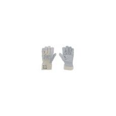 . Védõkesztyû, marha hasítékbõr, 10-es méret, szürke/beige