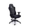 MAYAH Fõnöki szék, fekete/szürke gyöngyszövet-borítás, fekete lábkereszt, MAYAH Racer forgószék