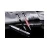 . Golyóstoll, felül fehér kristályokkal, 14 cm, MADE WITH SWAROVSKI ELEMENTS, fekete