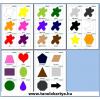 Colors, shapes (Színek, formák) Angol nyelvű TanulóKártya csomag - 44 oldal - 358 db