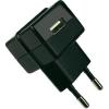 USB-s töltő, 100-240 V/AC, 1000 mA, HNP05-ECO-BLACK-C