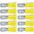 Csúszósaru dugó készlet, 6,3 x 0,8 mm, 2,5-6 mm², 10 db